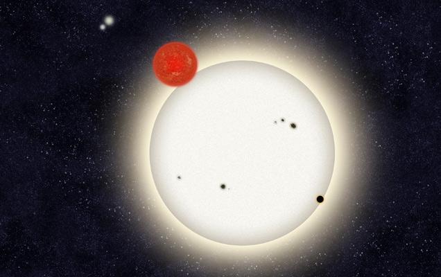 1 Planet 4 Suns